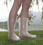 Sapata 100%, sapata da transparência de Wellington, sapata da transparência das mulheres da chuva da transparência