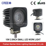 Waterproof Square 10W 2.5inch CREATES Small LED Work Light (GT1023B-10W)