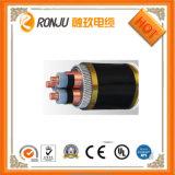 Fumage inférieur blindé de bande en acier d'isolation de XLPE et câble d'alimentation ignifuge d'halogène librement