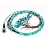 Di fibra multimoda Patchcord ottico di memorie MPO/MTP di singolo modo 12/24
