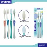 Brosse à dents pour adultes avec Nano poils doux 2 en 1 pack de l'économie 503