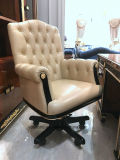 0069純木は贅沢なベニヤの光沢度の高い絵画エグゼクティブ椅子を覆った
