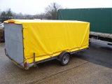 頑丈な18ozトラックの防水シート、PVCによって塗られる防水シートのトラックカバー
