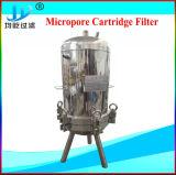 GetränkeEdelstahl-einzelne Kassetten-mikroporöses Filtergehäuse