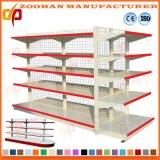 Doppeltes versah Metallbildschirmanzeige-Maschendraht-Supermarkt-Regal mit Seiten (Zhs142)