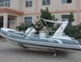Liya 17 pieds bateau gonflable rigide en fibre de verre Rib Bateau de pêche