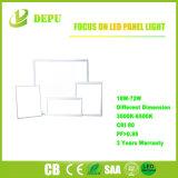 luz de painel Ultrathin do diodo emissor de luz do teto liso de alumínio de 600mm SMD 48W