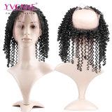 도매 360 레이스 정면 비꼬인 똑바른 브라질 머리 인간적인 Virgin 머리