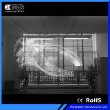 P10.4/10.4mm 광고를 위한 높은 광도 LED 투명한 전시