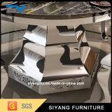 現代金属の家具の黒の大理石の円形のダイニングテーブル