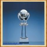 Trofeo cristalino de cristal de encargo del torneo del golf