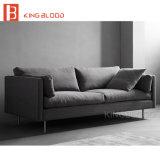 Couro de design em forma de L 3 Lugares sofá de couro de tecido