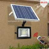 60 Светодиодный прожектор солнечной энергии дистанционного управления Водонепроницаемый для использования вне помещений солнечной безопасности сад лампы фонаря направленного света