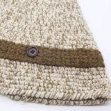 Lã Beanie Chapéus de malha com design de logotipo Customed unissexo