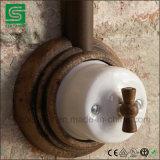 Commutatore rotante della porcellana fissata al muro dell'annata