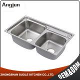 台所のための熱い販売のステンレス鋼深いボールの野菜洗浄の流し