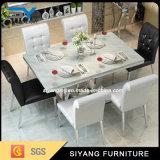 Foshan-moderner Möbel-Quadrat-Marmor-Spitzenspeisetisch