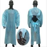 Isolamento de CPE Beca avental de plástico PE avental descartável impermeável