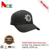 Los deportes de la insignia del bordado de la manera ajustaron la gorra de béisbol con su insignia del diseño