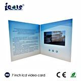 Arte de papel de lujo con la invitación de la boda de la visualización del LCD