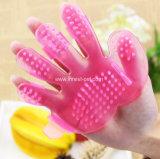 Гребень массажа чистки щетки перчатки холить мытья ванны волос собаки