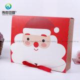 Rectángulo de empaquetado plegable del Portable de la torta del regalo del papel de la Navidad de encargo