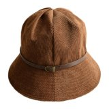 Caçamba Corduroy Causual Hat com Design Customed