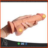 Dildo artificiale del silicone di doppio strato del giocattolo pieno del sesso per le donne