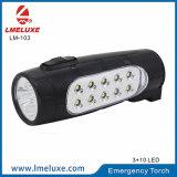 10의 LED 재충전용 LED 긴급 플래쉬 등
