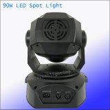 Discoteca LED 90W in situ la etapa de la luz de la cabeza en movimiento