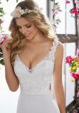 Кружевной устраивающих Gowns Бич страны спандекс свадебные платья фунтов6853