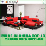 Mobília Home ajustada do sofá de couro italiano moderno