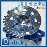Válvula de mariposa compensada del terminal del triple de Didtek con el actuador eléctrico