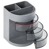 Trousse d'écolier de bureau en plastique fonctionnelle multi avec 6 cellules