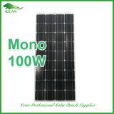 Высокая эффективность кремния Monocrystalline Солнечная панель 100W