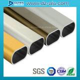 Perfil de aluminio modificado para requisitos particulares de la talla/del color para el tubo del óvalo del guardarropa