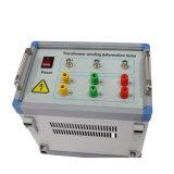 巻上げテスト、周波数応答の検光子の変圧器Fraの変形及び変位