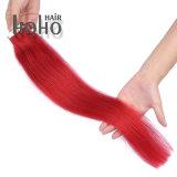 De Rode Kleur van de Producten van het haar Uitbreiding van het Menselijke Haar van 22 Duim de Braziliaanse
