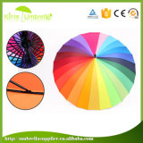Parapluie droit de Sun de parapluie droit de fibre de verre de parapluie de golf de fibre de verre