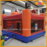 子供の販売(AQ07191)のための膨脹可能なゲームのオレンジ海賊コンボの警備員の膨脹可能なトランポリン