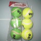 小犬の足の印刷安い犬のテニスのゴム球