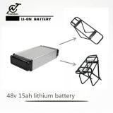 48V 15ah Zahnstangen-Typ Batterie mit Aufladeeinheit für Fahrrad