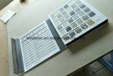 Magasin de détail Showroom Exposition de l'échantillon 3 Page échantillon de tissu de base acrylique Pierre Book Display