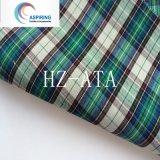 Non tissu de chemise de popeline de vérification teint par filé de tissu de coton d'extension