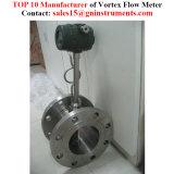 情報処理機能をもった挿入渦の液体窒素の流れメートル
