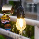L'ampoule de filament de DEL, ampoules des ampoules 15PCS DEL Edison de chaîne de caractères de S14 Dimmable pour la lampe de chevet, lumières extérieures de chaîne de caractères, UL claire en verre a indiqué