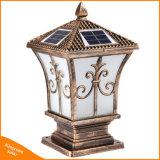Luz solar del poste de la luz solar decorativa al aire libre del pilar para el jardín