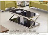 居間の家具の円形のガラス金の喫茶店表