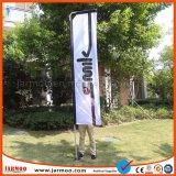 Promoción Exterior de la bandera en forma de lágrima banner de publicidad