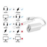 2pcs para el iPhone 7/Plus para auricular de 3.5mm Cable adaptador de Audio Converter